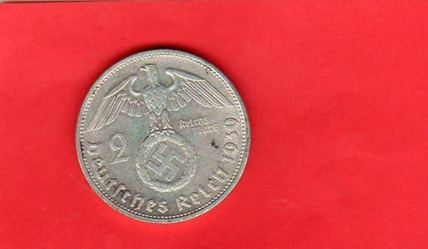 Moderne Münzen Deutsches Reich 1939 G 2 Reichsmark